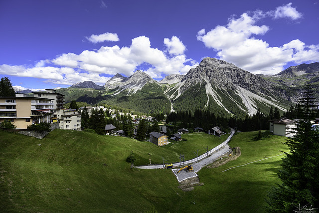Montain view from Arosa - Graubünden - Switzerland