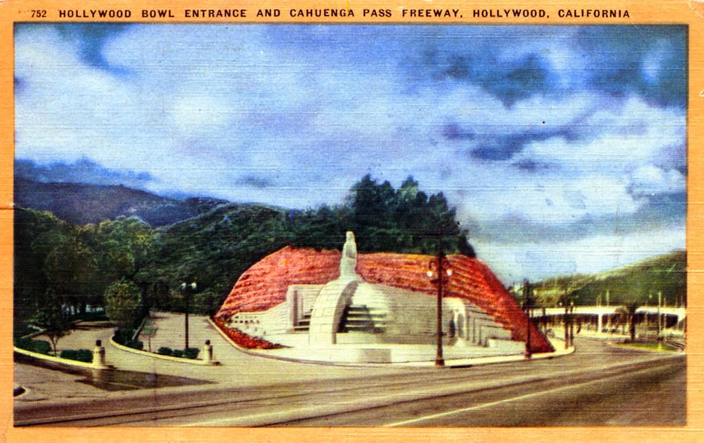 Hollywood Bowl Entrance and Cahuenga Pass Freeway Hollywood CA