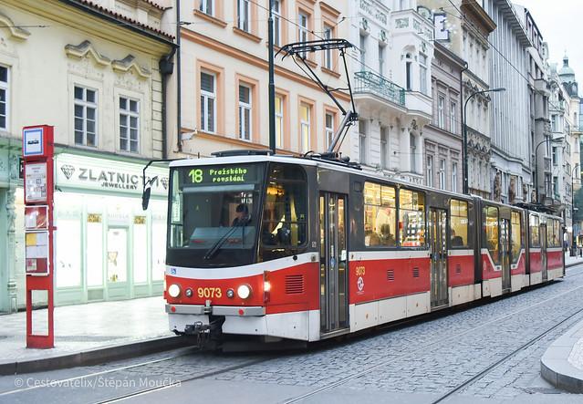 KTD5R.N2P 9073, Prague trams, 18.10.2020
