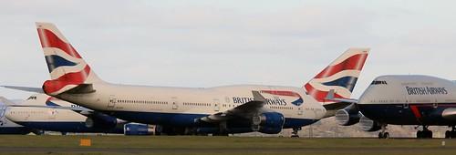 G-CIVU and G-BYGD Boeing 747-436 British Airways  CWL 221020