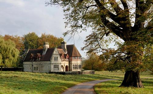 oldbuilding historicbuildings listedbuilding building house studleyroyal northyorkshire nationaltrust autumn landscape yorkshire tree