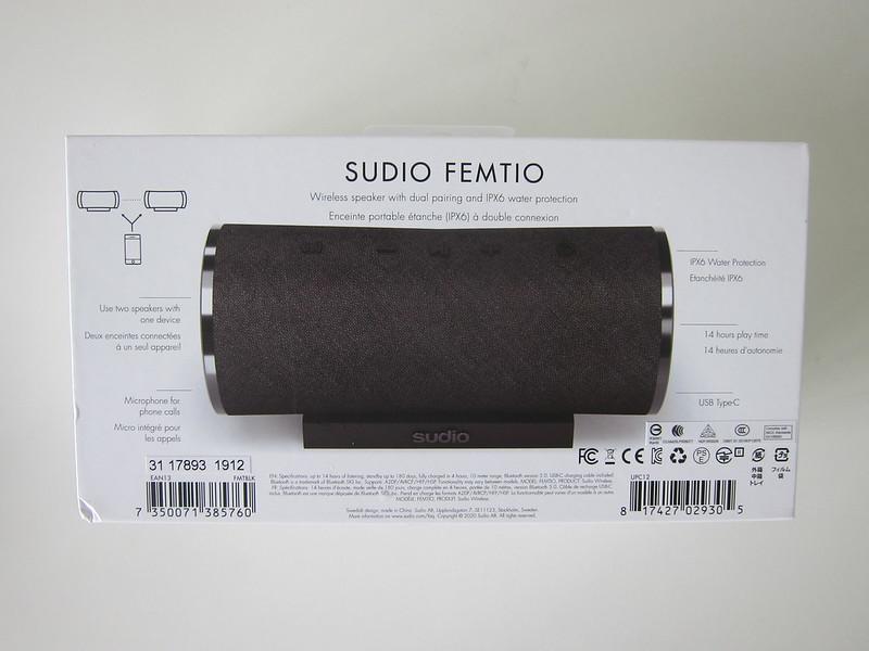Sudio Femtio - Box Back