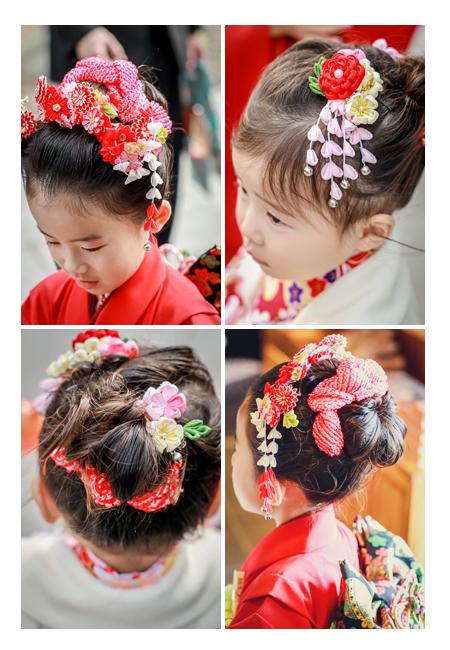 七五三のヘアスタイル 姉妹 日本髪