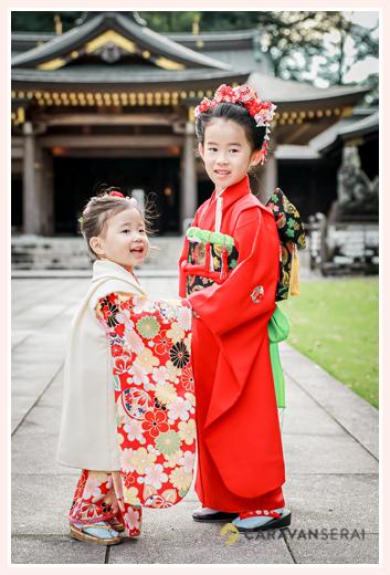 姉妹そろって七五三 7才と3才 岐阜護国神社