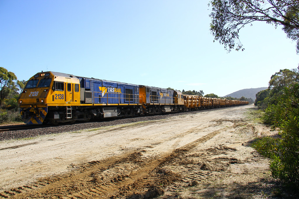 5539. 2138,2134 on 534 logs to Bell Bay at Georgetown 11-10-13 by David Arnold