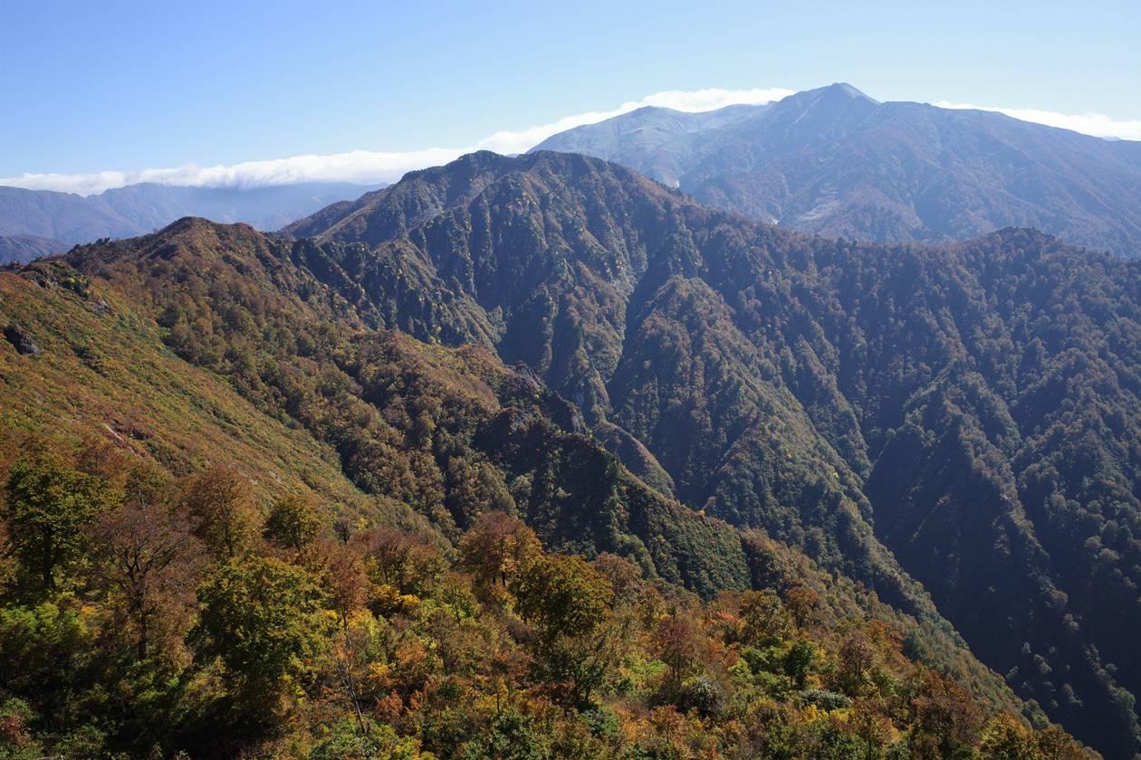【新潟】金城山登山 山頂から眺める巻機山