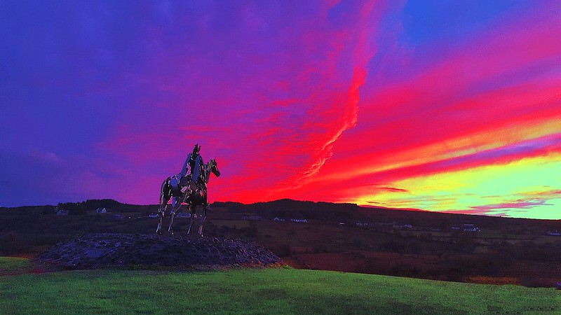 Sunset at the Gaelic Chieftain