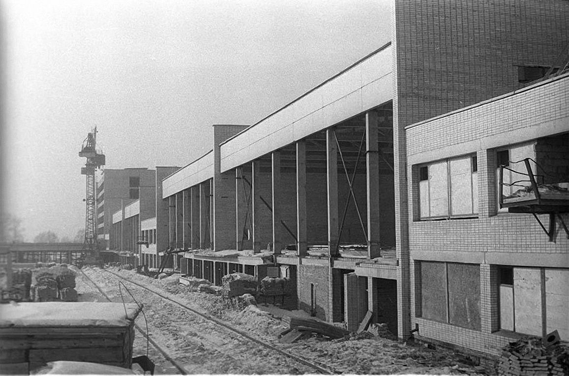 1960-е. Строительство новых корпусов Института физической культуры на Сиреневом бульваре