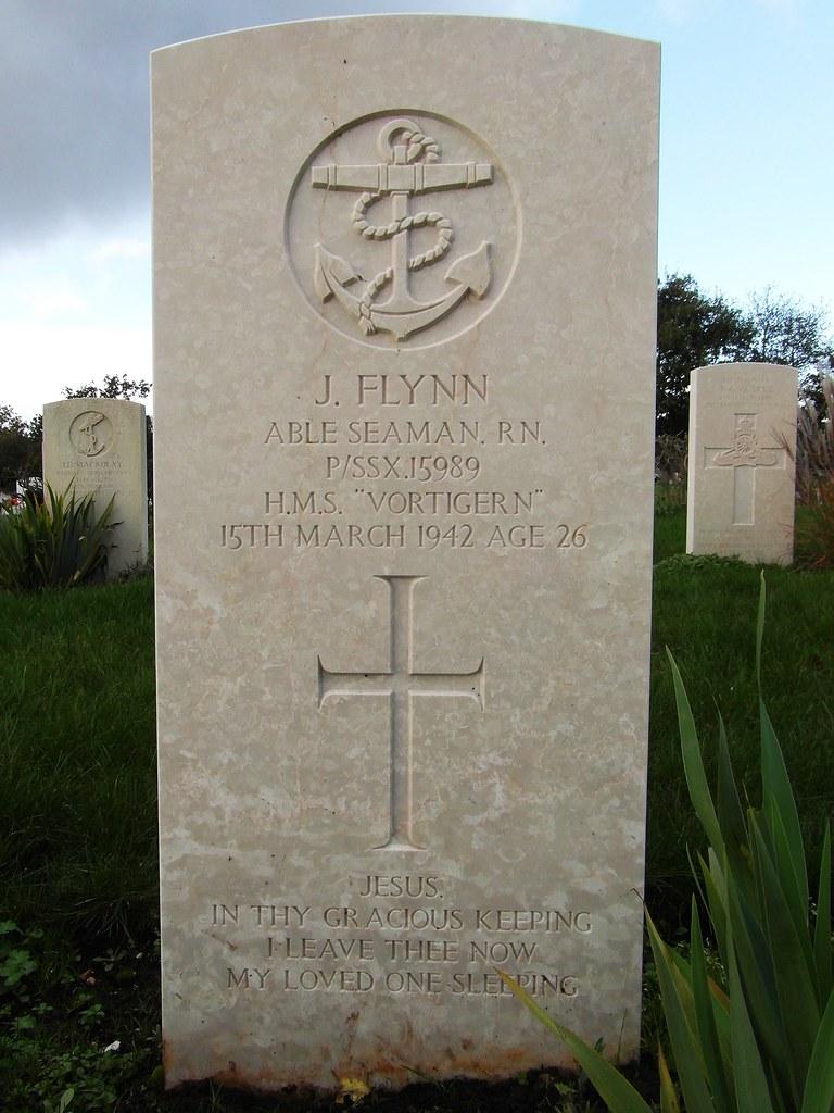 CWGC headstone - HMS Vortigern