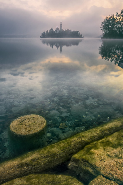 Misty Morning at Lake Bled, Slovenia