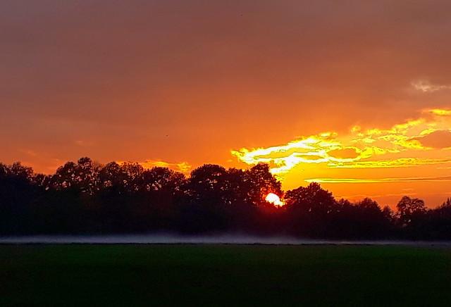 Sunset this evening
