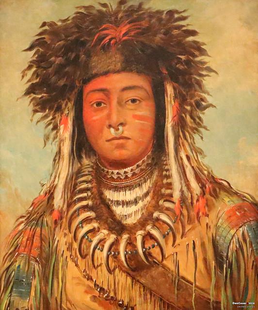 Boy Chief - Ojibbeway, 1843, George Catlin,1796-1872