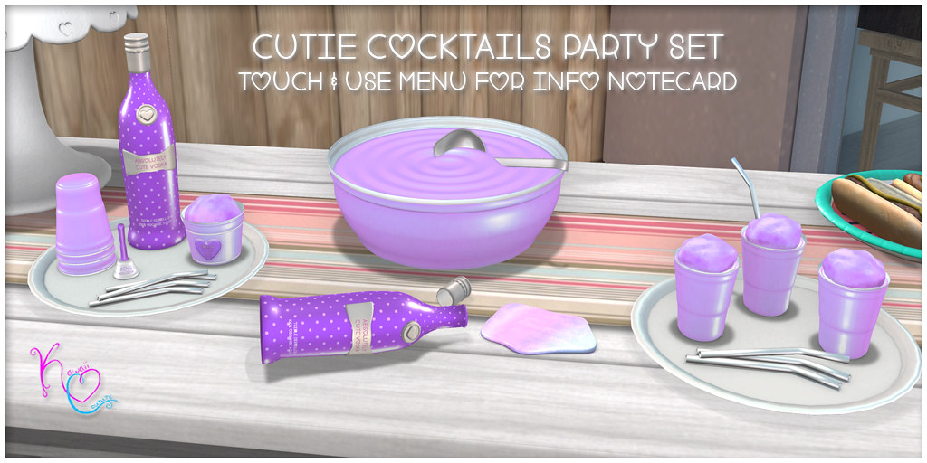 Kawaii Couture Cutie Cocktail Party Set Ad – Purple