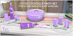 Kawaii Couture Cutie Cocktail Party Set Ad - Purple