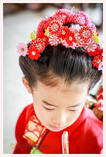 七五三 日本髪 7才の女の子のヘアスタイル