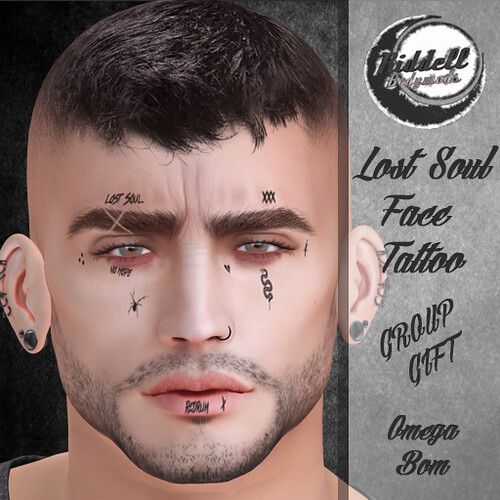 Riddell Lost Soul Face Tattoo GROUP GIFT!