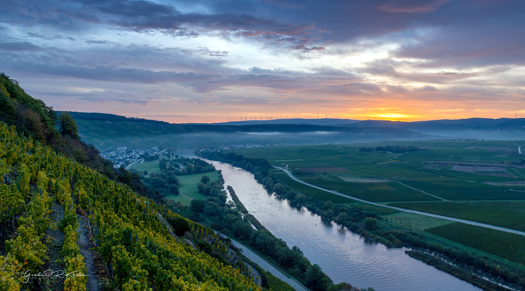 Twilight over the Moselle!