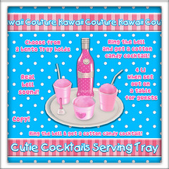 Cutie Cocktails Serving Tray Ad - Pink