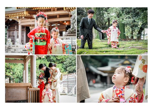 姉妹そろって七五三 岐阜護国神社でロケーション撮影