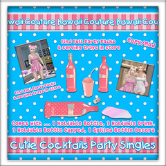 Kawaii Coutur Cutie Cocktail Party Singles  Ad - Tang