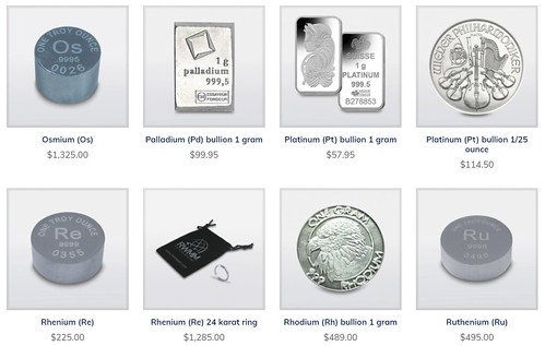 Rare World Metals Mint offerings