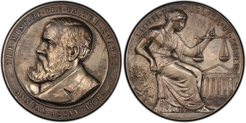 1893 Assay Commission  medal