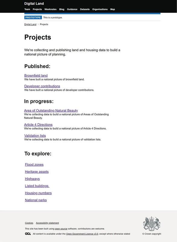 Project page roadmap prototype screenshots
