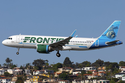 N341FR - Airbus A320-251N - Frontier - KSAN - Oct 2020