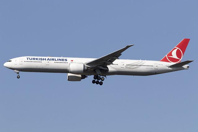 Turkish Airlines 777-300ER TC-LJA at Heathrow Airport LHR/EGLL