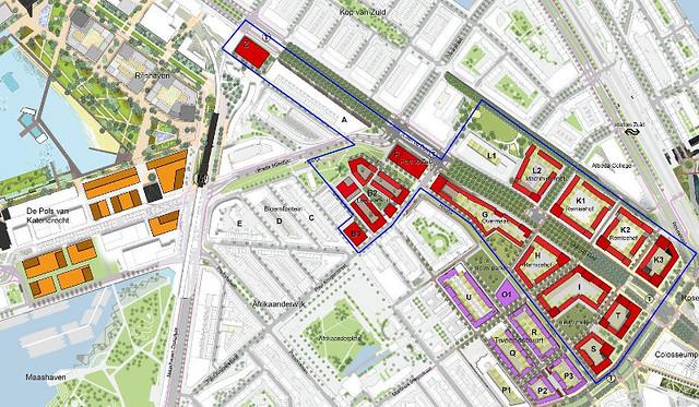 Parkstad Rotterdam kaart