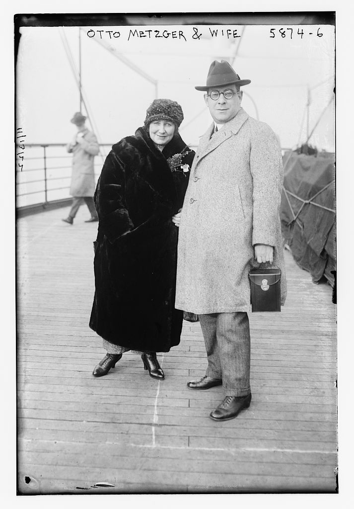 Otto Metzger and wife (LOC)