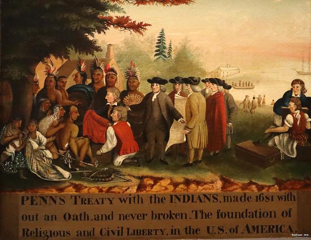 Penn's Treaty with the Indians, 1840/44, Edward Hicks, 1780=1849