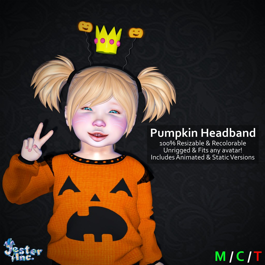 Presenting the new Pumpkin Headband from Jester Inc.