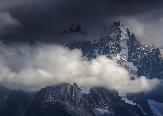 Storm over the Chamonix Aiguilles (in Explore)