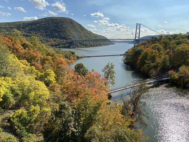 Picture Of Bear Mountain Bridge Taken In Highland Falls, New York In Orange County With The Changing Color Of The Tree's. Photo Taken Sunday October 18, 2020