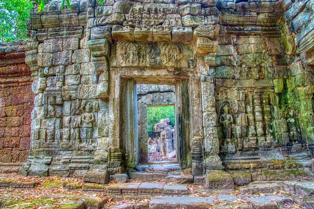 Temple ruins of Preah Khan in Angkor Historical Park near Siem Reap, Cambodia