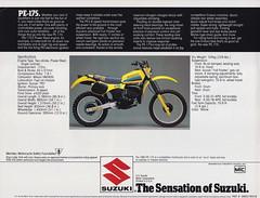 1983 Suzuki PE175 Brochure page 2