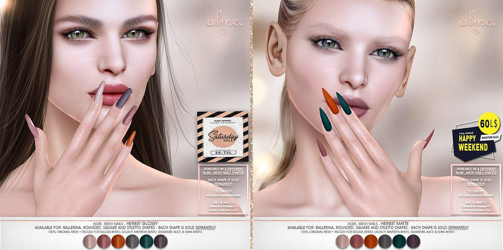 "ALME NEW RELEASE – ""HERBST"" Nail Set in Matte & Glossy {WEEKEND SALES}"