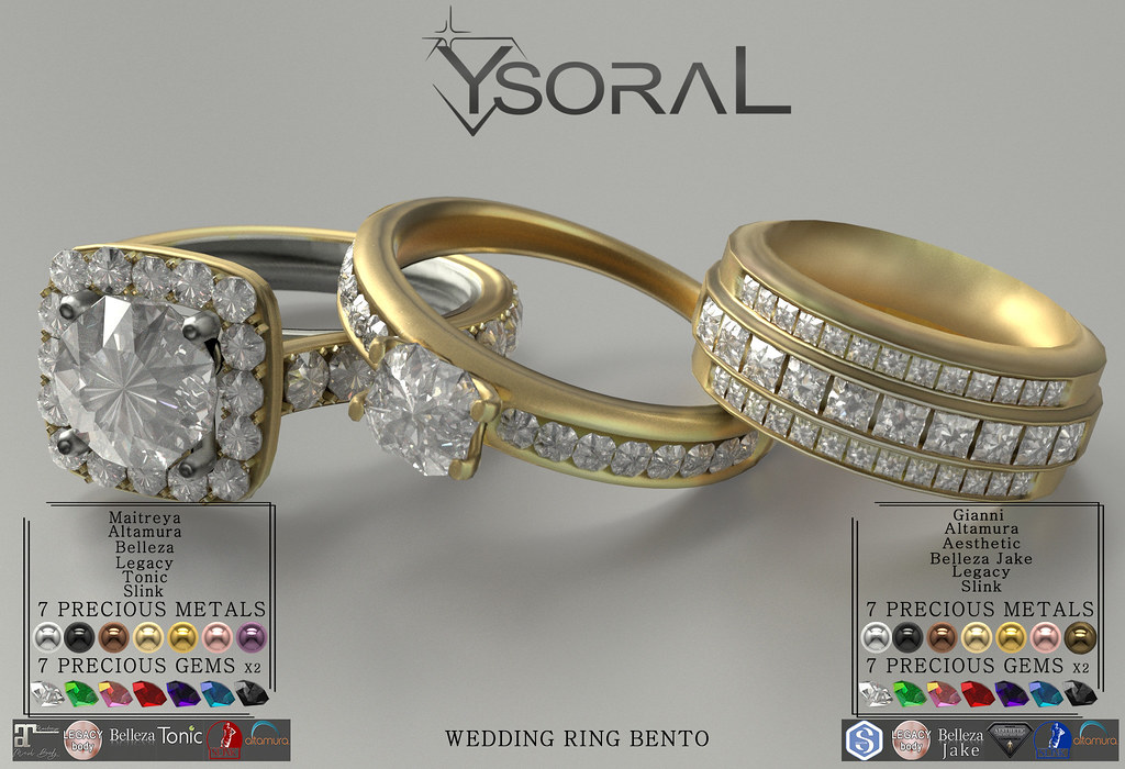 (BENTO)~~ Ysoral ~~ .:Luxe Wedding Set Ring Ashley & Evan:.