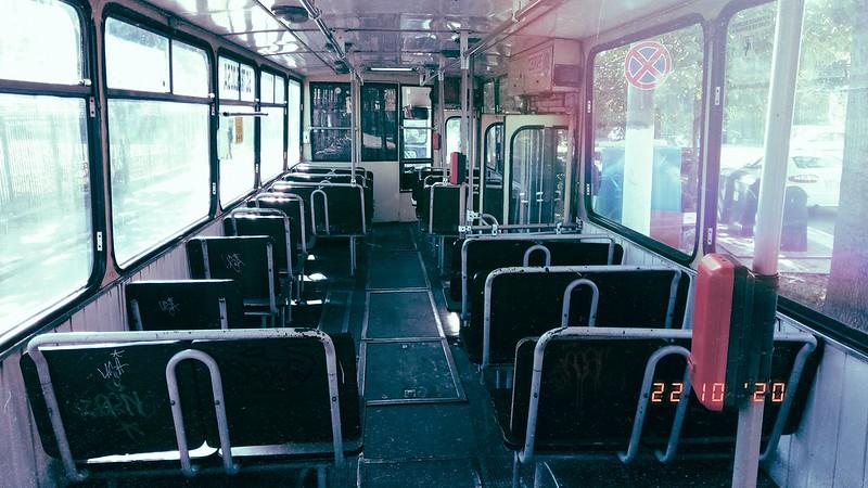 Interior autobuz DAC 112UDM #GJ01DRU al Transloc Tg. Jiu