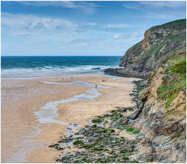 Mawgan Porth Beach In October - Cornwall.