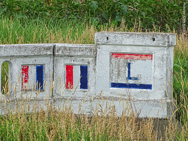 Lincoln Hwy Painted Bridge near Overton, 18 July 2020