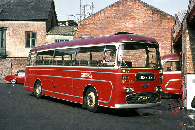 Barton Transport . 1057 469BRY . Barton Garage , Leicester , Leicestershire . Saturday 18th-September-1971 .