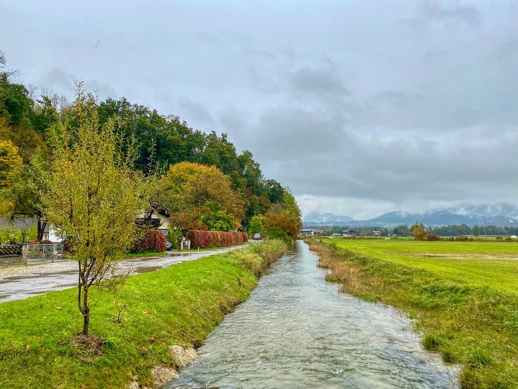 Creek in autumn near Oberaudorf in Bavaria, Germany