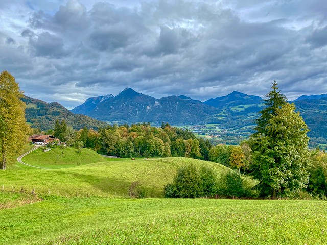 Autumnal landscape on Hocheck mountain near Oberaudorf in Bavaria, Germany