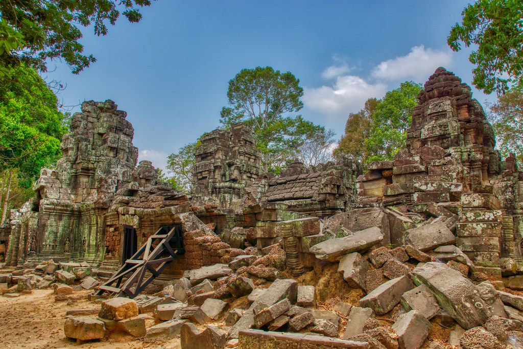 Temple ruins of Ta Som in Angkor Historical Park near Siem Reap, Cambodia