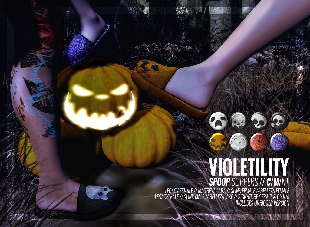 Violetility – Spoop Slippers