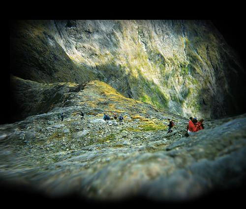 Descending to Gertrude Saddle