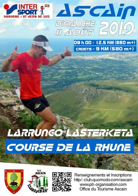 14em competition, Dimanche 11 aout 2019, Course de la Rhune, 388em sur 554 classés, 1h57,08, méteo épouvantable