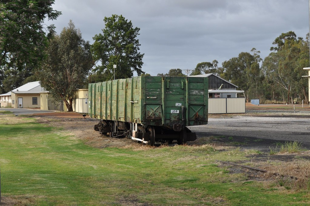 S 40 Old wooden sided box wagon Hotham Valley Railway at Pinjarra 2015 10 23 by ChrisDPom